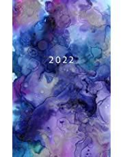 2022: Weekly Planner Week To View   5 x 8 Dated Agenda   Monday Start Appointment Calendar   Organizer Mini Book   Soft-Cover Watercolor