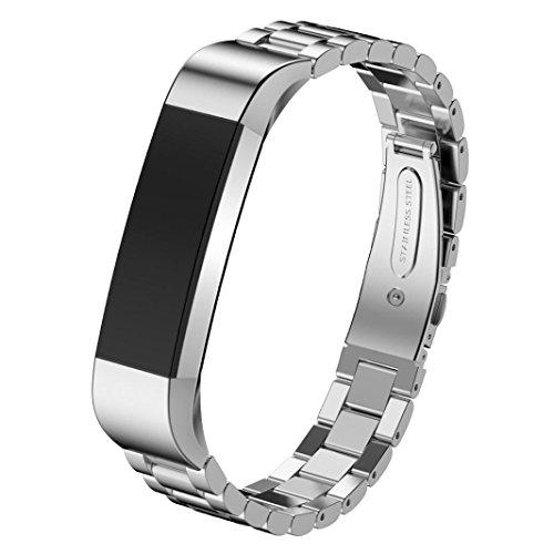 bescita Bracelet en acier inoxydable Bracelet pour fitbit Alta Smart Horloge