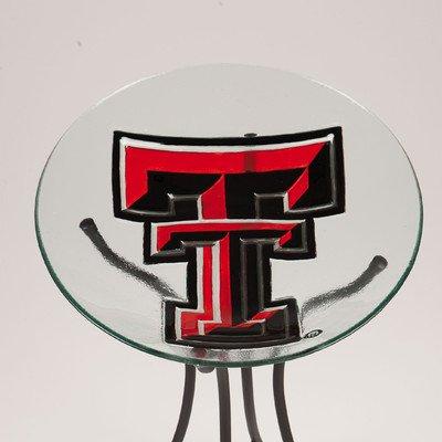 Texas Tech Glass Birdbath