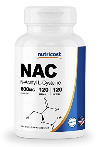 Nutricost N-Acetyl L-Cysteine (NAC) 600mg, 120 Veggie Capsules - Non-GMO, Gluten Free, Vegetable Caps by Nutricost (Image #7)
