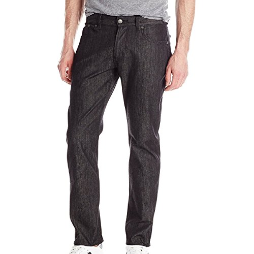 LRG Men's Research Collection True Taper Fit Jean, Raw Black, 36
