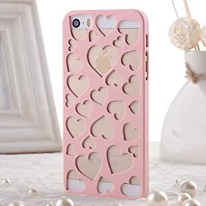 SHOUJIKE Love Pattern Radiating Hollow PC Material Protective Shell for iPhone 5 / 5S(Assorted Colors) , White