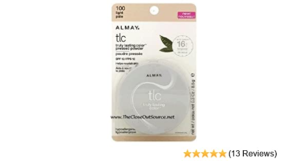 amazon com almay truly lasting color pressed powder light 100