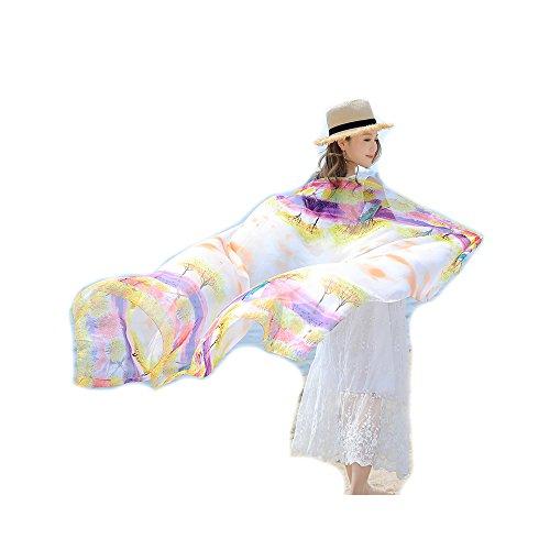 Sciarpe Spiaggia fiore da bagno Pareo Wrap Costumi Scialli Protezione Sarong UV Bambine Grande Donna ragazze Copricostumi solare Stole Extra Viola e pWwtgzaq1