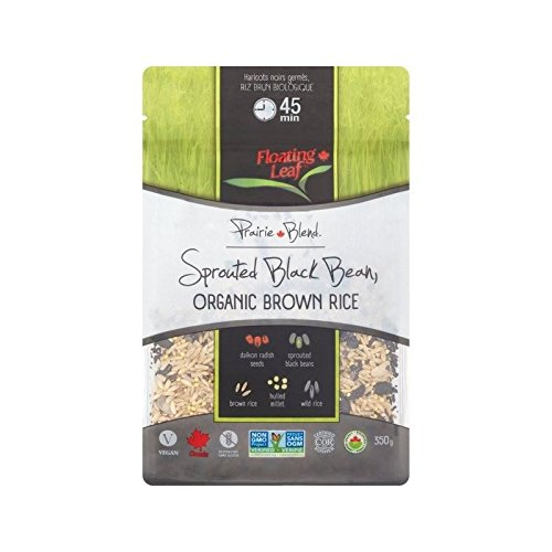 Floating Leaf Sprouted Black Beans Organic Wild Rice 350g - (Pack of 6) by Floating Leaf