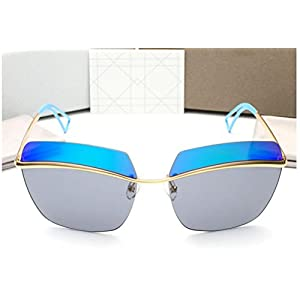 GAMT Brand New Rimless Colored Sunglasses Blue