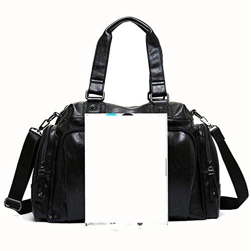 Lightweight Jxth Holdall Tote Handbag Casual Sports For Gym Shoulder Multifunctional Bag Men's Retro Travel Leather r11w5E