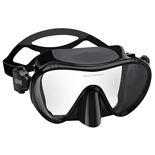 Aegend Scuba Dive Mask Snorkel Mask- No Leaking- 180° Panoramic Clear View- UV...