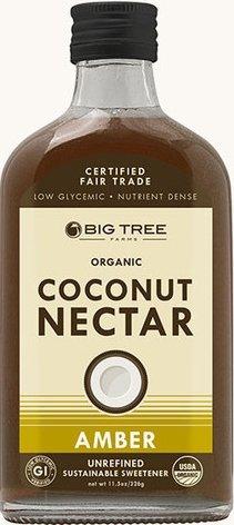 Big Tree Organic Coconut Nectar - Unrefined Sweetener 11.5oz Bottle (Pack of 2) Select Flavor Below (Amber)