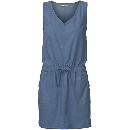 The North Face Women's Aphrodite Dress Indigo Heather Mini Stripe MD - Aphrodite Mini Dress