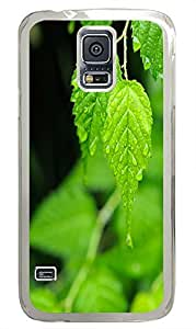 free Samsung Galaxy S5 covers Wet Leaf PC Transparent Custom Samsung Galaxy S5 Case Cover