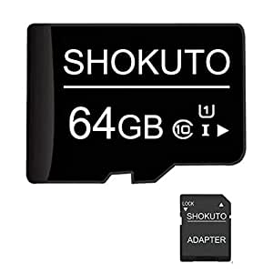 SHOKUTO Tarjeta SD, 64 GB, Tarjeta de Memoria Micro SDHC, Tarjeta ...