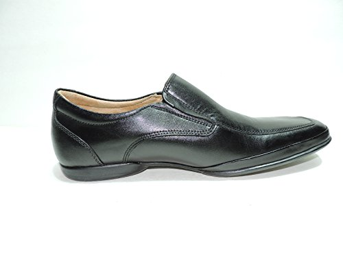 Steve Madden Spree Womens Loafers Shoes Black Leather Slip On Flats Size 8.5 M BXOHcx5R
