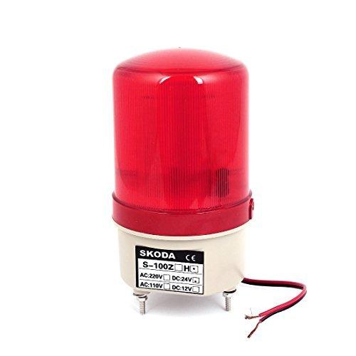 eDealMax DC24V destello de luz roja del zumbador de advertencia Claxon Industrial Torre de la lmpara