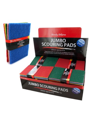 5 Pack jumbo scouring pads, Case of 100 by Handy Helpers