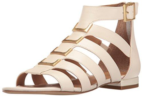Calvin Klein Women's Estes Gladiator Sandal, Soft White, 8 M US by Calvin Klein