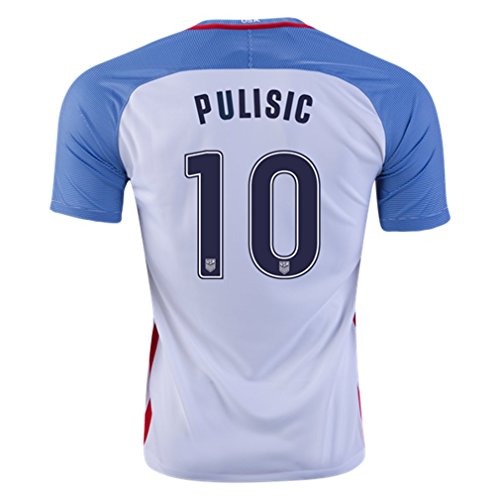 Pulisic #17 USA Home Soccer Jersey 2016 (L)