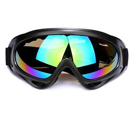 Aphse Outdoor Glasses Snowboard Ski Goggles Sunglasses Eyewear Adjustable UV Protective Portable Motorcycle Goggles Eyewear Dust-Proof Protective Combat Goggles Play Games Protective Glasses