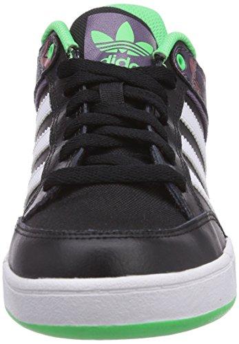 adidas Varial Unisex-Erwachsene Sneakers Schwarz (Core Black/Ash Purple S15-St/Flash Green S15)