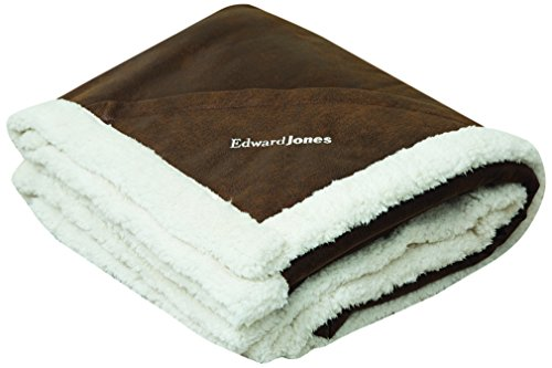 Terry Town DP1719-Brown-1 Sherpa Lined Plush Rustic Ranch Throw with Pocket, (Leather Comforter)