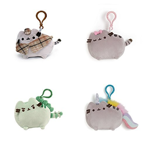 Gund Pusheen the Cat Plush Backpack Clip-Ons (Set of 4) by GUND