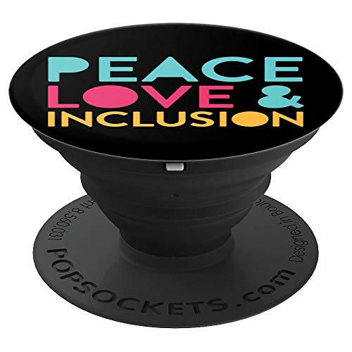 Peace Love Inclusion Diversity Special Education Teacher - PopSockets Grip and Stand for Phones and Tablets (Best Diversity And Inclusion Videos)