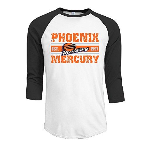 Price comparison product image ElishaJ Men's Raglan 3 / 4 Sleeve T-Shirt Phoenix Sport Mercury Black Size XXL