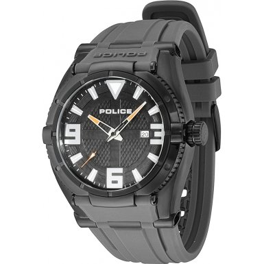Police 13093JSB-02B Mens Black IP Raptor Watch