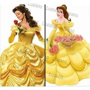 3L tamano de la Bella y la Bestia de Disney traje de ...