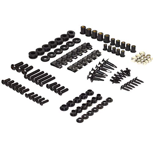 Cbr600rr Body - Black Complete Motorcycle Fairing Bolt Kit Honda CBR600RR 2005-2006 Body Screws, Fasteners, and Hardware