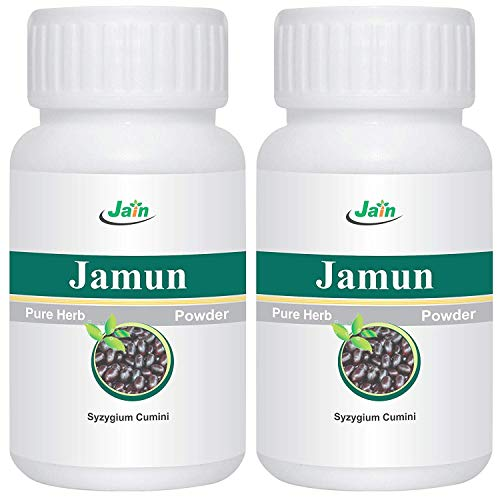 - Jain's Jamun Seed Powder - 100 GMS (2 Bottles) - Indian Ayurveda's Pure Natural Herbal Supplement Powder