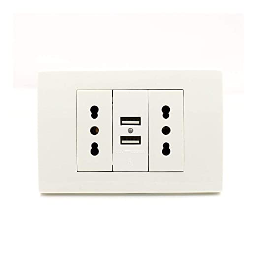 Toma De Corriente Enchufe De Pared Usb Dual Plug Italiano ...