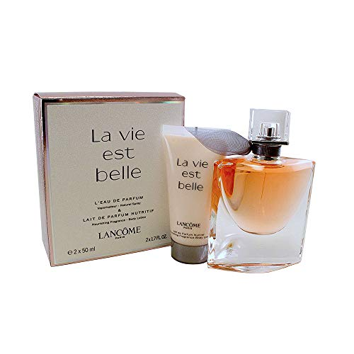 Lancome Lancome La Vie Est Belle For Women 2 Piece Travel Set 1.7 Eau De Parfum Spray 1.7 Body Lotion