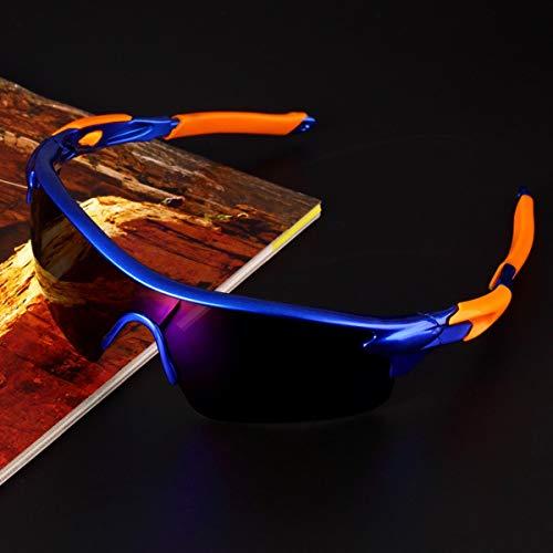 de Bleue de Lunettes vélo air et lentille Vélo en UV400 Cadre Plein Soleil lentille Orange Lunettes équitation Gugutogo Lunettes Sport Bleu Couleur zFpTAq