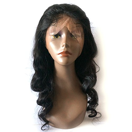 Enoya Hair 360 Silk Top Lace Frontal Loose Wave Human Hair Wigs-Glueless 180% Density Brazilian Virgin Remy Wigs with Baby Hair (silk top 20'')