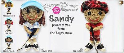 Kamibashi Sandy Golfer Boy Original String Doll Gang Keychain - Golfer Keychain