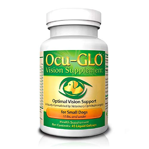 Ocu-GLO Vision Supplement for Small Dogs by Animal Necessity with Lutein, Omega-3 Fatty Acids, Grape Seed Extract and Antioxidants to Promote Eye Health in Dogs, 45ct Liquid Gelcaps (Best Eye Drops For Improving Eyesight)