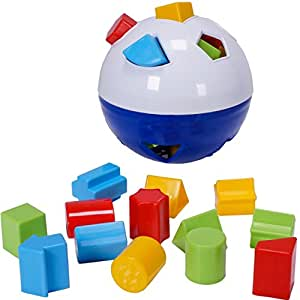 CifToys Educational Shape Sorter Ball Kids Toys | Develop Fine Motor Skills, Have Fun, Learn About Shapes & Colors (Blue-White)