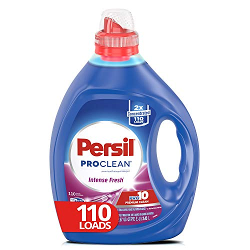 Persil Liquid Laundry Detergent, ProClean Intense Fresh, 2X Concentrated, 110 Loads Deep Cleaning Laundry Detergent