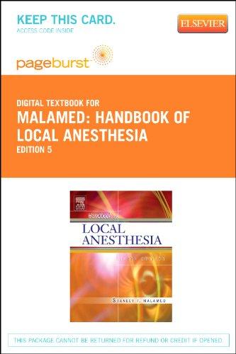 Handbook of Local Anesthesia - Elsevier Digital Book (Retail Access Card), 5e