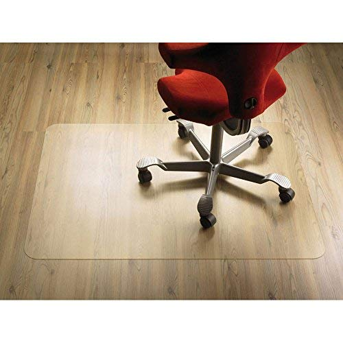 Toysland Office Chair Mat for Hardwood Floor, Great Clear Vinyl Hard Floor Mat With Smooth Surface, Anti-Slip Thick And Sturdy Desk Floor Protective Mats 48''×36''