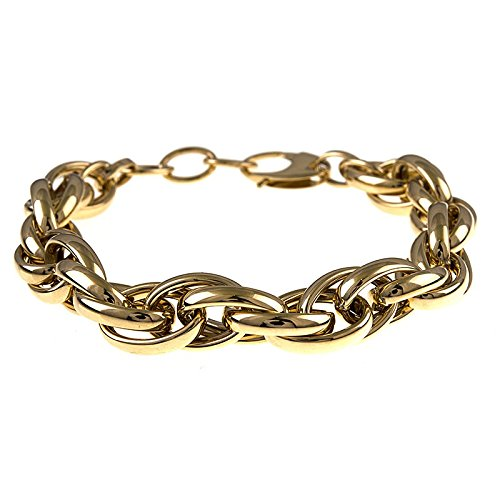 14 ct Gelb Gold links 11,8 mm hochglanz diverse. Kette Typ Hohl Armband – 23 cm
