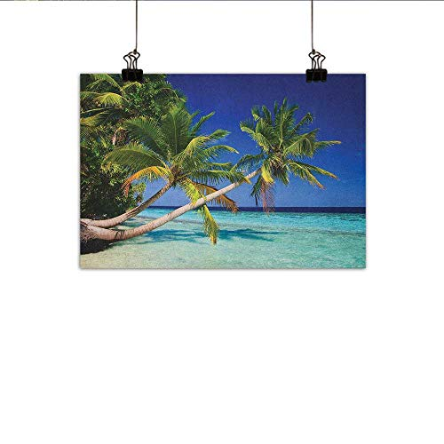 Littletonhome Ocean Wall Art Decor Poster Painting Maldives Bay Paradise Resort Summer in Pacific Holiday Destinations Decorations Home Decor 31