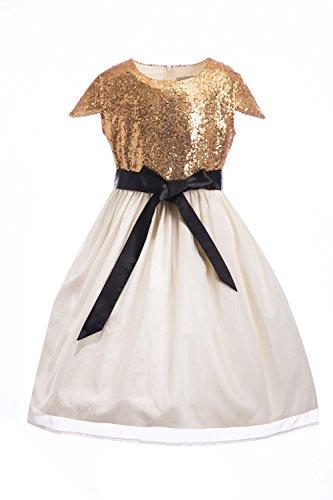 White Sequin Pleated Skirt - 7