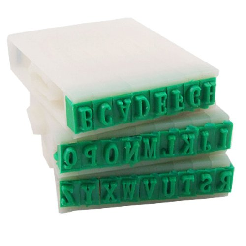 Stamps - Detachable 26 Letters English Alphabet Plastic Stamp Set - Clear Identity Quality Vogue Stamps Japanese Entered Leather Collectors Information Name Enamel Pack Tray State Game Quick Pers