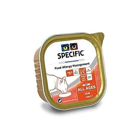 Comida humeda Specific FDW Food allergy management 7 x 100 gr para gatos hipoaleregicos: Amazon.es: Productos para mascotas
