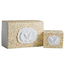 The FAVORITE PLACE® Burial Urn Box Biodegradable for Ground Burial, (Large Butterfly Urn Box), Scattering Cremated Ashes in Earth Friendly Eco Urn, Adult Size (Large, Florentine Flower)