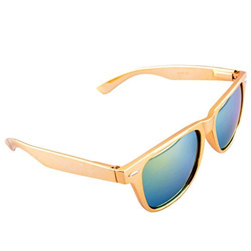 Metallic Wayfarer Sunglasses Iridium Lenses product image