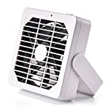 AXESX Mini Fan Small Desk Fans Desktop Personal Fan with 2 Speed Cool Small Desk Fan for Home and Office Circulates Air, Quiet in Low Speed (White)