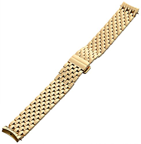 MICHELE MS16DH246710 Serein 16 16mm Stainless Steel Gold Watch Bracelet by MICHELE